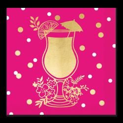 hot pink drink foil napkin | Lady Jayne