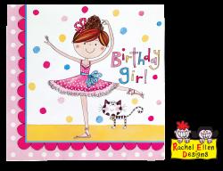 Party Napkins Rachel Ellen Ballerina Napkins #50889 - Pack of 20