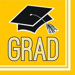 Congrats Grad Yellow Beverage Napkin (360/case)