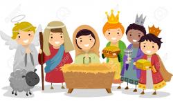 Children's Nativity Scene Clipart