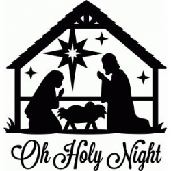 Silhouette Design Store: oh holy night nativity | card box ...
