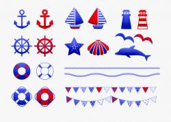 Nautical Clip Art Nautical Banner Bunting Sailboat - マリン ...