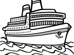 Ship clip art black and white clipart images gallery for ...
