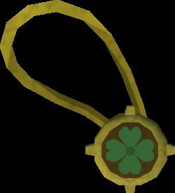 Dazzling four-leaf clover necklace | RuneScape Wiki | FANDOM powered ...