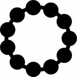 Necklace Of Black Pearls Of Short Circular Shape Svg Png Icon Free ...