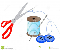 Sewing Kit Clip Art | Sewing accessories | Sewing ...