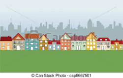 neighborhood and big city | Clipart Panda - Free Clipart Images