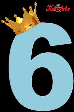 Alfabeto de Números Azul Claro con Coronas. | números | Pinterest ...