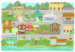 Town Clip Art Free | 2017 Summer reading | Maps for kids ...