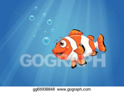 Vector Illustration - A sea with a nemo fish . EPS Clipart ...