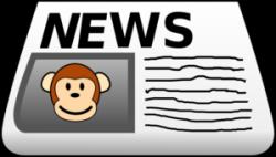 Monkey News Clip Art at Clker.com - vector clip art online, royalty ...
