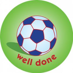 Football - well done - pack of 75 38mm reward stickers
