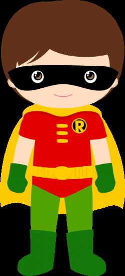 Characters of Batman Kids Version Clip Art. - Oh My Fiesta! for Geeks