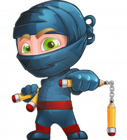 Vector Ninja Character - Toshi the Smart Ninja | GraphicMama ...
