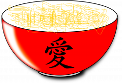 Clipart - Noodles with Reflet