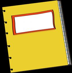 School Notebook Clipart