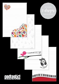 Music Mixed Design Notepad - Padtastic