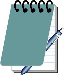 Notebook And Pen Clipart - Clip Art Library