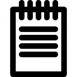 notepad clipart lovely of notepad clipart black and white letter ...
