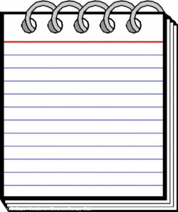 Notepad Clipart Black And White | https://momogicars.com