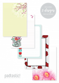 Flowers Mixed Design Notepad - Padtastic