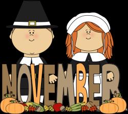 Free Month Clip Art | Month of November Pilgrims Clip Art Image ...