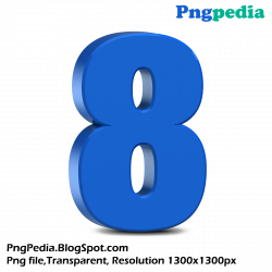 blue-3d-numbers-set 1300 x 1300 free download | Png Vectors, Photos ...