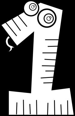 clipartist.net » Clip Art » kablam number animals 1 black white line ...