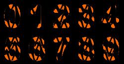 Clipart - Waspish alphabet numbers