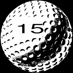 Golf Ball Number 15 Clip Art at Clker.com - vector clip art online ...