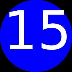 Number 15 Blue Background Clip Art at Clker.com - vector clip art ...