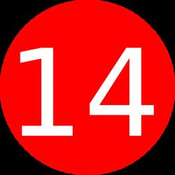 Number 14 Red Background Clip Art at Clker.com - vector clip art ...