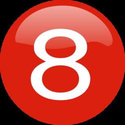Number 8 Button Clip Art at Clker.com - vector clip art online ...