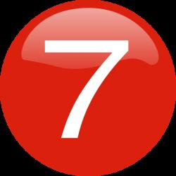 Number 7 Button Clip Art at Clker.com - vector clip art online ...