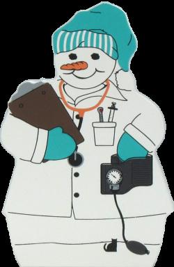 Nurse Snowman | The Cat's Meow Village