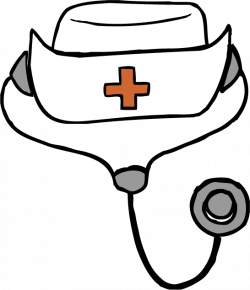 28+ Collection of Nurse Hat Drawing | High quality, free cliparts ...