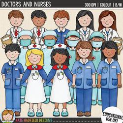 Doctors and Nurses Clip Art