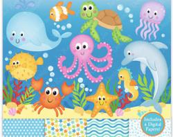 Ocean clipart | Etsy