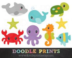 Ocean Clipart - Sea Digital Clip Art Printable - Under the Sea ...
