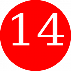 Red, Rounded,with Number 12 Clip Art at Clker.com - vector clip art ...