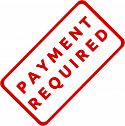 Clipart - Payment Required Business Stamp 1