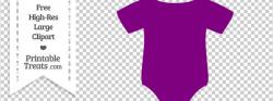 Purple Baby Onesie Clipart — Printable Treats.com