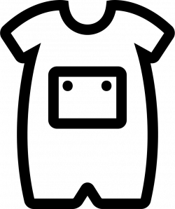 Baby Onesie With Front Pocket Outline Svg Png Icon Free Download ...