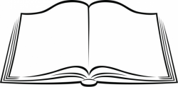 free book clipart black and white image 73 open books clipart within ...