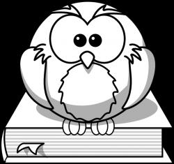 Owl On Book Outline Clip Art at Clker.com - vector clip art online ...