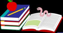 Books Apple Pencil Bookworm Clip Art - Sweet Clip Art | Back To ...