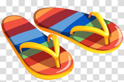 Free download | Pair of yellow-and-orange floral flip-flops ...