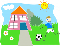 Clipart - Boy Playing Soccer