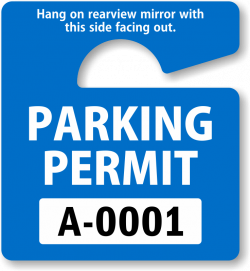 In Stock Parking Permits | Free Shipping from MyParkingPermit.com