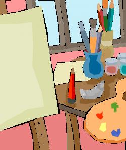 Fine Arts Artist's Tools - Vector Image